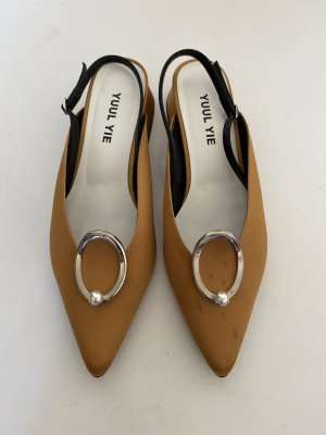 Yuul Yie Satin Slingback Pumps