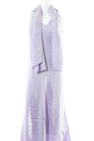 Yves Calin Abendkleid lila Glitzer-Optik