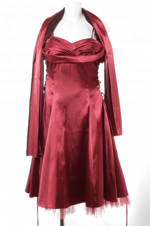 Yves Calin Abendkleid rot Glanz-Optik