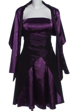 Yves Calin schulterfreies Kleid lila Elegant