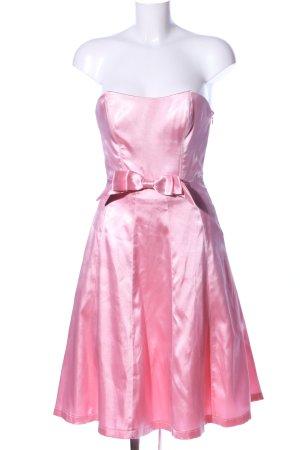 Yves Calin schulterfreies Kleid pink extravaganter Stil
