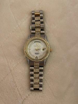 Yves Camani Reloj con pulsera metálica color plata-color oro