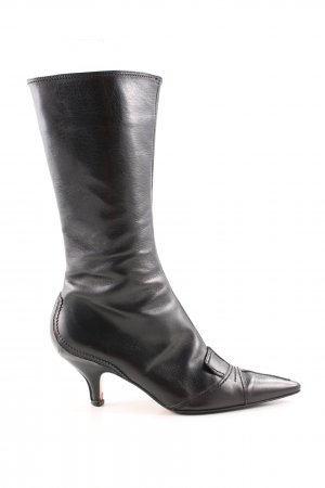 Yves Saint Laurent Absatz Stiefel schwarz Business-Look