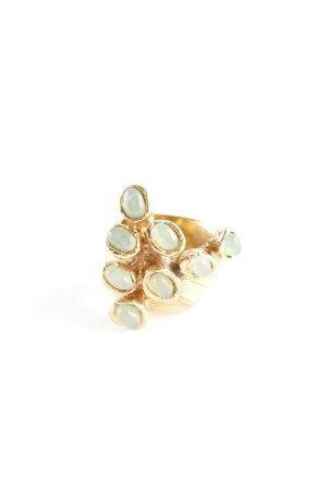 Yves Saint Laurent Złoty pierścionek złoto-jasnozielony