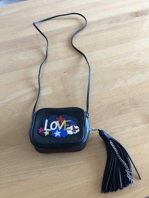 Yves Saint Laurent Blogger Tasche Love Patch schwarz wie neu