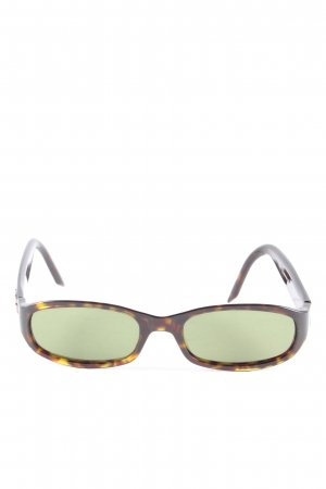 Yves Saint Laurent Brille braun-blassgelb abstraktes Muster Casual-Look