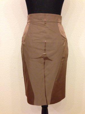 Yves Saint Laurent Falda asimétrica color bronce-marrón claro