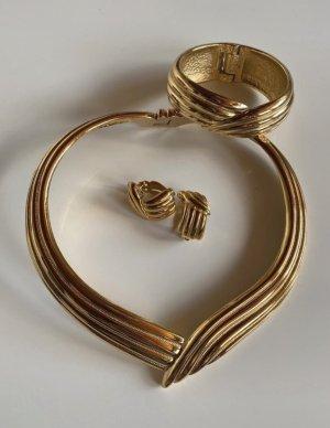 Yves Saint Laurent Parure bijoux doré