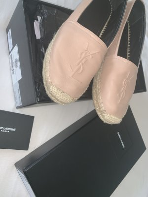 Yves Saint Laurent Ballerine en pointe or rose