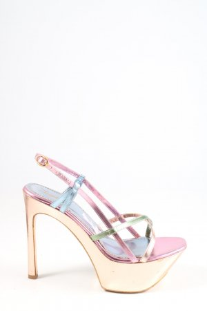 Yves Saint Laurent High Heel Sandaletten goldfarben Glanz-Optik