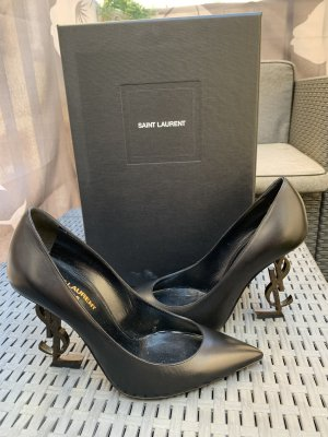 Yves Saint Laurent High Heels black leather