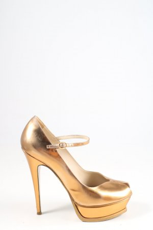 Yves Saint Laurent High Heels goldfarben Elegant