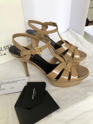 Yves Saint Laurent high heels dark nude