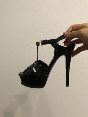 Yves Saint Laurent High Heels Lack Schwarz Gr. 35