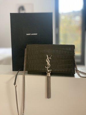 Yves Saint Laurent Bolso de mano caqui
