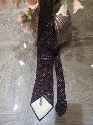 Yves Saint Laurent Cravatta casual bianco-rosso scuro