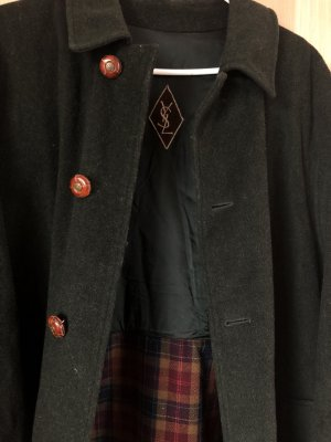 Yves Saint Laurent Wool Coat dark green