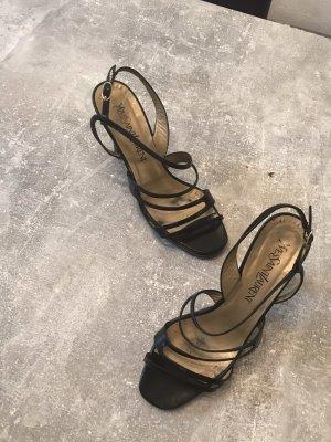 Yves Saint Laurent Strapped High-Heeled Sandals black