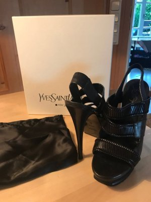 Yves Saint Laurent Pumps Sandalen schwarz 39