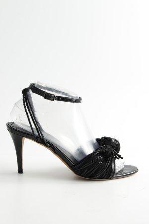 Yves Saint Laurent Sandalias de tacón de tiras negro look casual