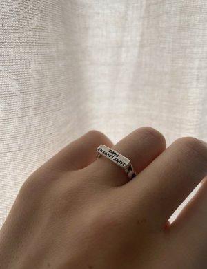 Saint Laurent Srebrny pierścionek srebrny