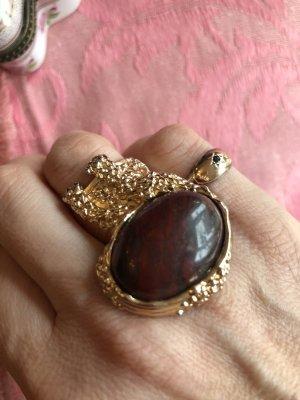 Yves Saint Laurent Zdobiony pierścionek Wielokolorowy