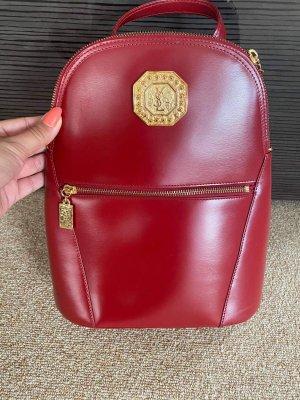 Yves Saint Laurent Laptop Backpack bordeaux-carmine