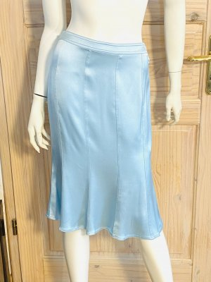Yves Saint Laurent Silk Skirt baby blue silk
