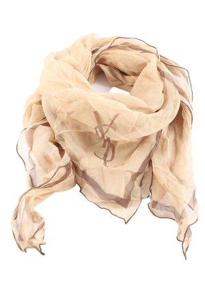 Yves Saint Laurent Foulard en soie rose chair-brun style d'affaires