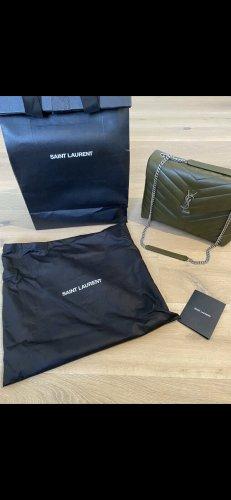 Yves Saint Laurent Sac Baril kaki cuir