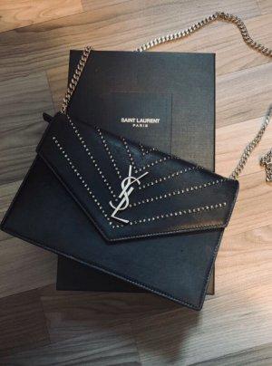 Yves Saint Laurent Tasche schwarz mit Strass