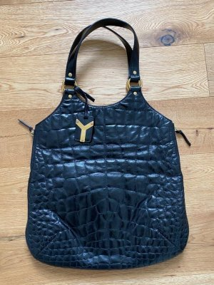 Yves Saint Laurent Borsa larga nero Pelle