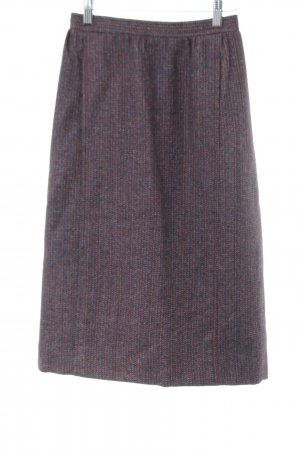 Yves Saint Laurent Wool Skirt red-blue allover print casual look