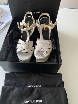 Yves Saint Lautent Tribute Pumps creme Glattleder
