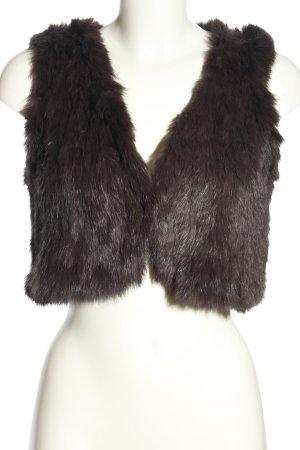 Yves salomon Smanicato di pelliccia nero elegante