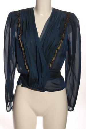 Yvette Wikkelblouse blauw elegant