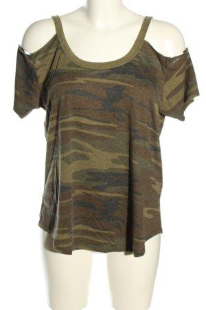 Z Supply T-Shirt khaki-braun Allover-Druck Casual-Look