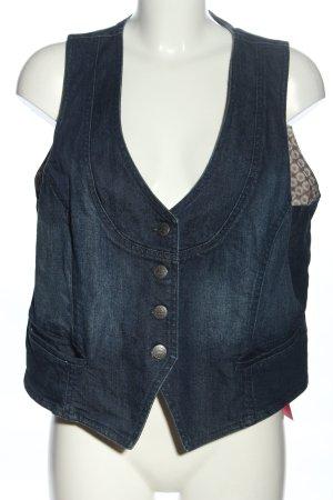 zab company Jeansweste blau Casual-Look