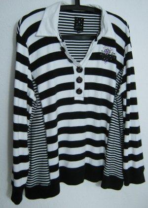 ZAB Polo Pullover Shirt Größe 50 Schwarz Weiß Baumwolle