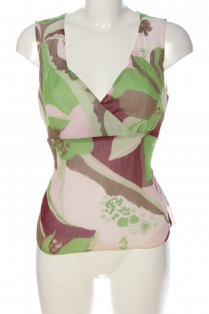 Zabaione ärmellose Bluse abstraktes Muster Casual-Look