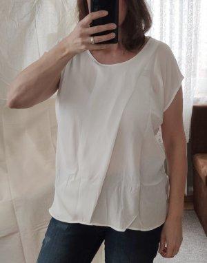 ZABAIONE Blusenshirt, Gr. XL (Maße beachten), weiß, vorne doppellagig