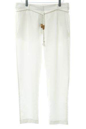 Zabaione Bundfaltenhose weiß Elegant
