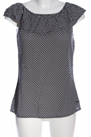 Zabaione Carmen-Bluse schwarz-weiß Allover-Druck Casual-Look