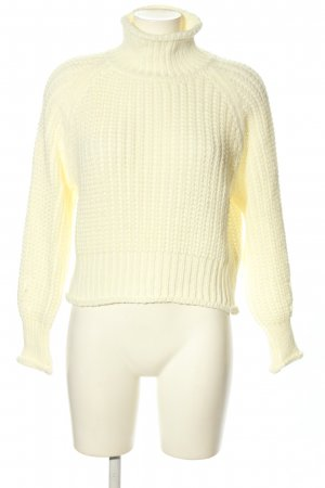 Zabaione Grobstrickpullover creme Casual-Look