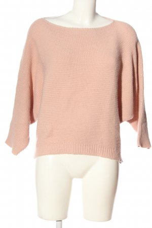 Zabaione Crochet Sweater pink casual look