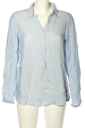 Zabaione Hemd-Bluse blau-weiß Allover-Druck Business-Look