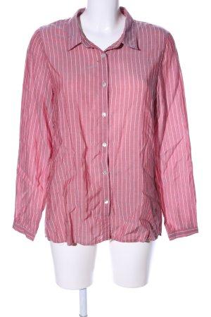 Zabaione Hemd-Bluse pink-weiß Allover-Druck Business-Look