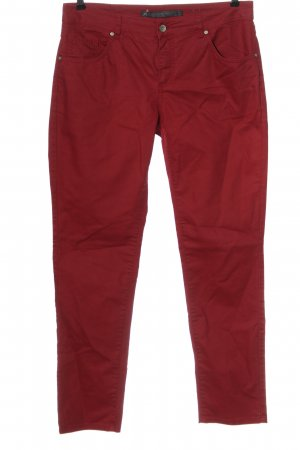 Zabaione High Waist Trousers red casual look