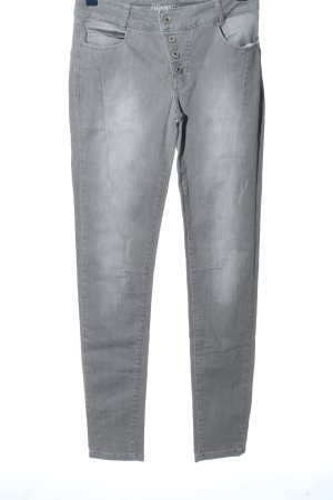Zabaione Jeans a vita alta grigio chiaro stile casual