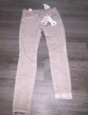 Zabaione Jeans a sigaretta talpa-rosa antico